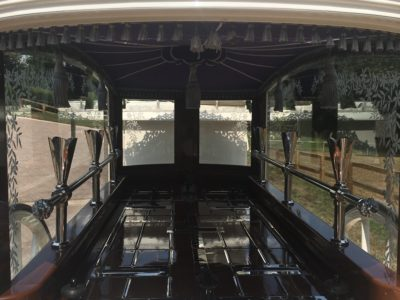 inside the hearse